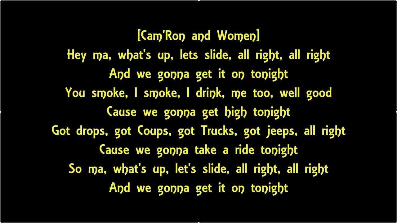 We Smoke We Drink We Gonna Get It On Tonight