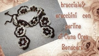 Bracciale All'uncinetto Con Perline Variante