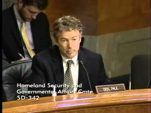 11/13/13 - Sen. Rand Paul Questions DHS Nominee Jeh Johnson