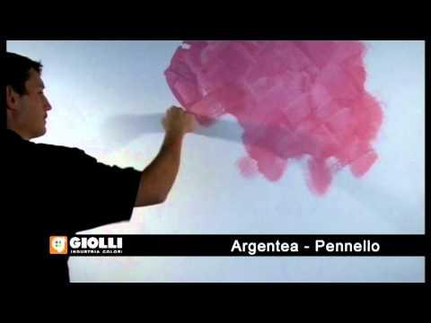 Gollio - metalizowana farba dekorayjna Argentea - nakładanie pędzlem