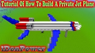 Minecraft Tutorial Of How To Build A Private Jet,Plane