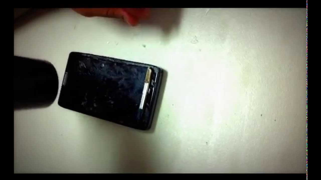 Droid Razr Maxx Screen Cracked