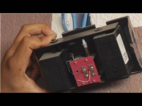 home repair maintenance how to replace a doorbell chime box youtube. Black Bedroom Furniture Sets. Home Design Ideas