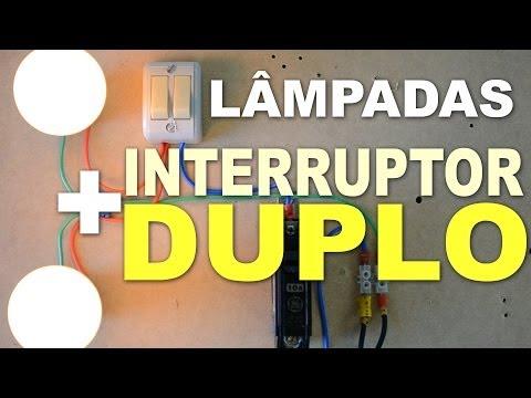 Instalação Elétrica de 2 Lâmpadas em Interruptor Duplo