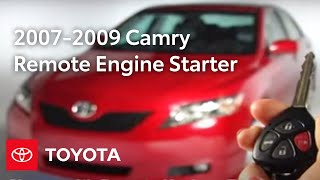 Camry How-To: Remote Engine Starter Operation 2007