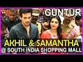 Akhil & Samantha @ South Indian Shopping Mall Opening at G..