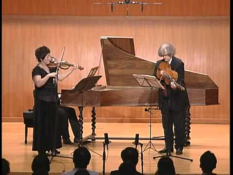 J. S. Bach - Sonata for Violin and Basso Continuo G-Major / BWV 1021