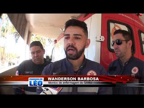 20/08/2019 - Motociclista de 24 anos fica ferido em acidente no Bairro Cecap II em Barretos