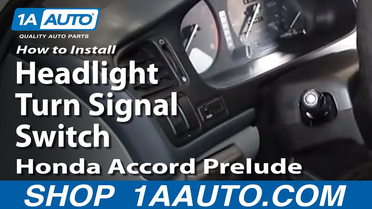 How To Install Replace Headlight Turn Signal Switch Honda