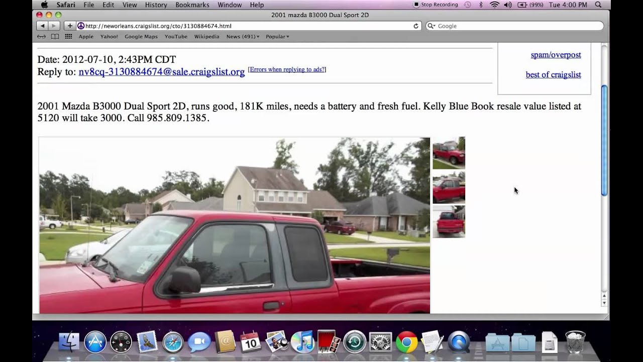 Craigslist New Orleans Popular Used Cars And Trucks For Sale By Owner In 2012 Youtube