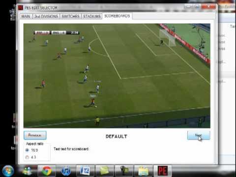Instalar Scoreboard PES 2012 con PESEDIT Patch