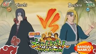 Naruto Ultimate Ninja Storm Revolution: Itachi Vs Deidara