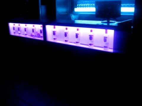 Barra con iluminacion led rainbow en liquid bar youtube - Iluminacion con led ...