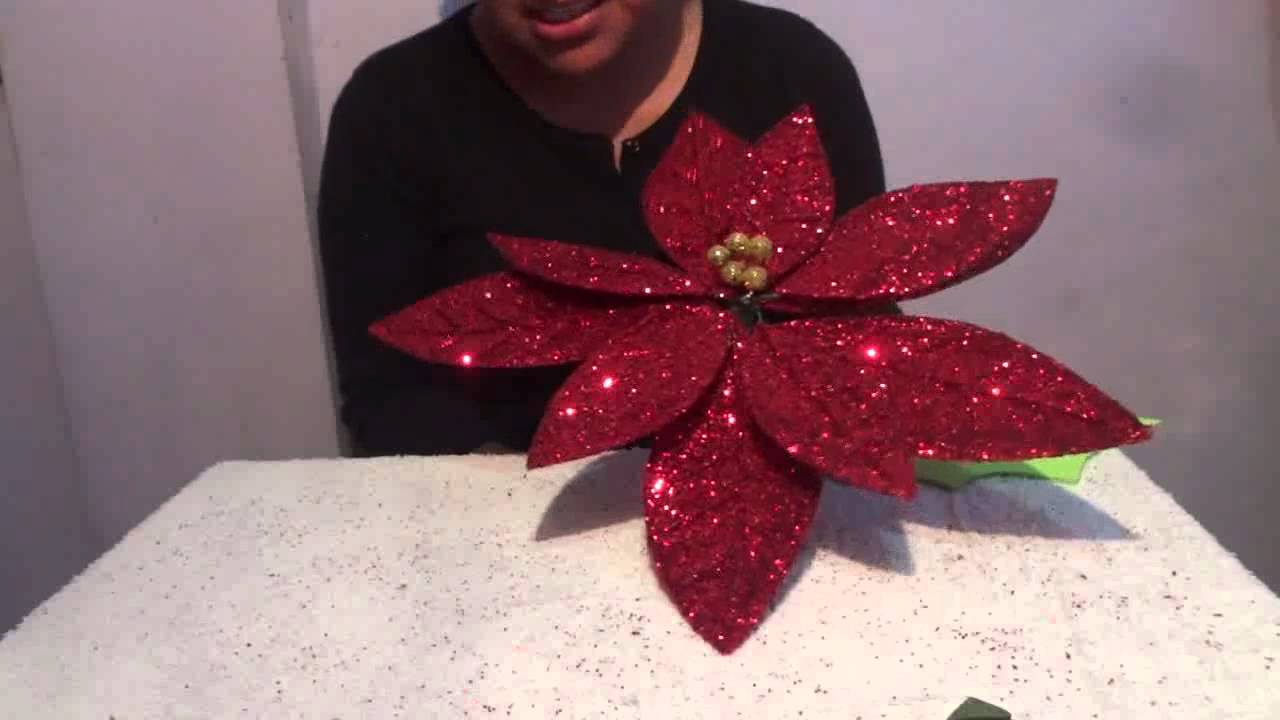 Flor de nochebuena con fomi 5 de 5 manualidades ideas for Adornos con plantas de nochebuena