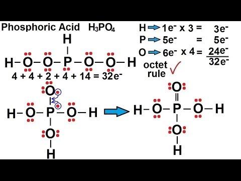 Phosphoric Acid H3PO4 Molecular Geometry amp Polarity