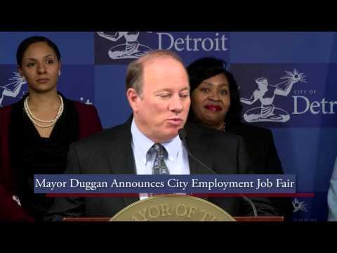 Mayor Mike Duggan Talks About Upcoming City Job Fair