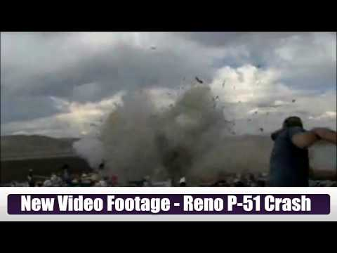 NEWLY RELEASED - Reno Nevada Air Show Air Race P-51 Mustang Plane Crash Slow Motion Into Crowd