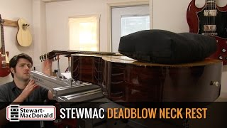 Watch the Trade Secrets Video, StewMac Deadblow Neck Rest Video