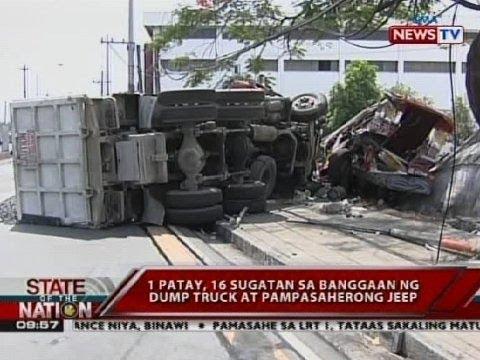 patay, 16 sugatan sa banggaan ng dump truck at pampasaherong jeep