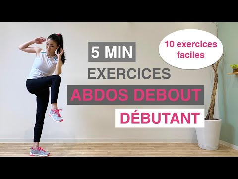 5 MIN EXERCICES ABDOS DEBOUT DÉBUTANT//5 MIN STANDING ABS WORKOUT BEGINNER