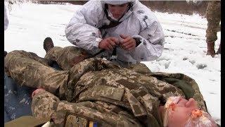 Тренування військових медиків в районі АТО