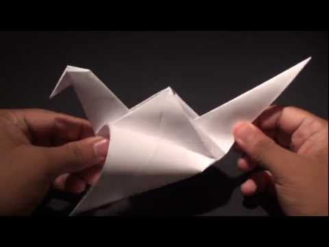 How to Make a (ORIGAMI) Paper: Flapping Crane (Bird) - TCGames [HD]!