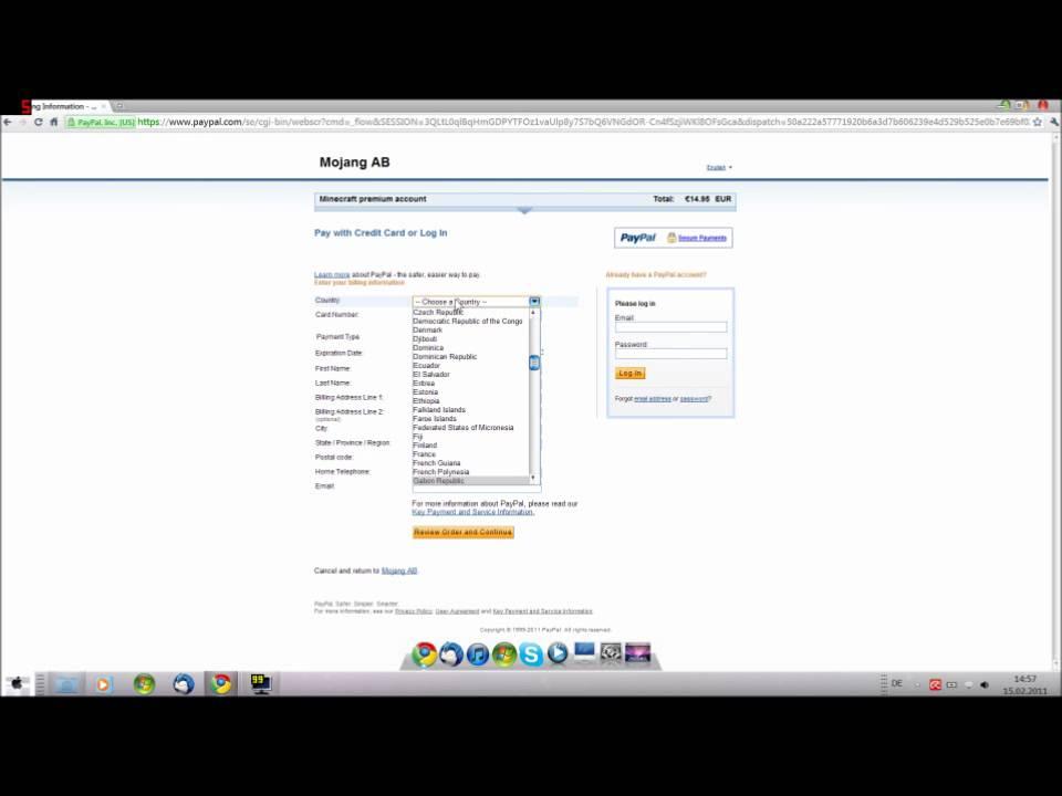 paypal online kreditkarte
