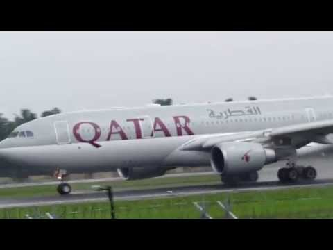 Qatar Airways A330 takeoff from Cochin International Airport