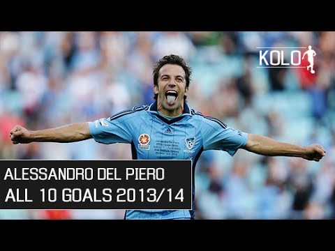 Alessandro Del Piero ● All 10 Goals ● Sydney FC 2013/14 HD