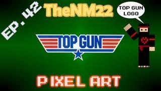 Top Gun Logo in Minecraft - TheNM22 Pixel Art