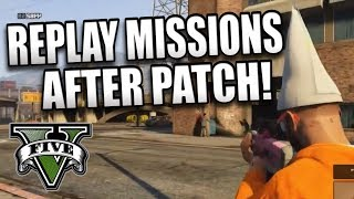 GTA 5 Online How To Replay Missions After Patch (GTA 5