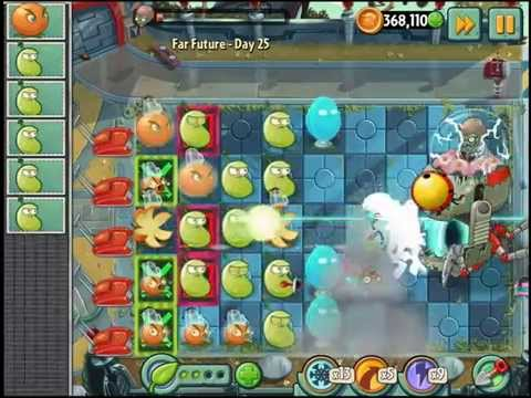 Plants vs  Zombies 2 Far Future Dr Zomboss!