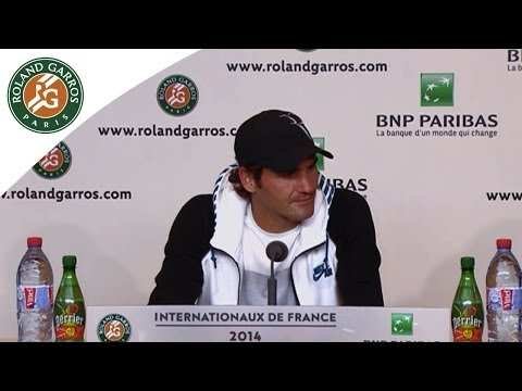 Press conference Roger Federer 2014 French Open R4