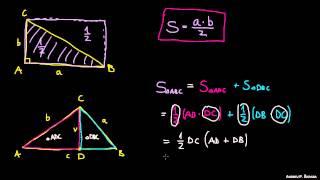 Ploščina trikotnika – dokaz