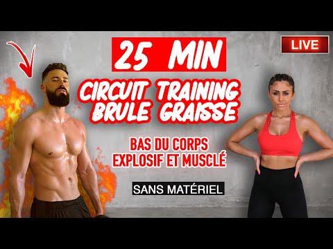 25 min Circuit Training brûle-graisse et musculaire - bas du corps explosif with Thibault Geoffray