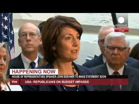 US shutdown: Boehner, Republicans offer debt ceiling increase (recorded live feed)