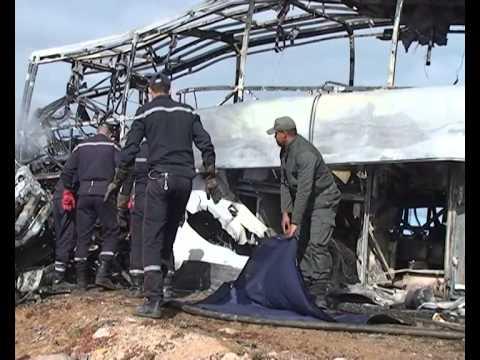 بالفيديو: ضحايا مأساة طانطان لحظة إخراجهم من الحافلة