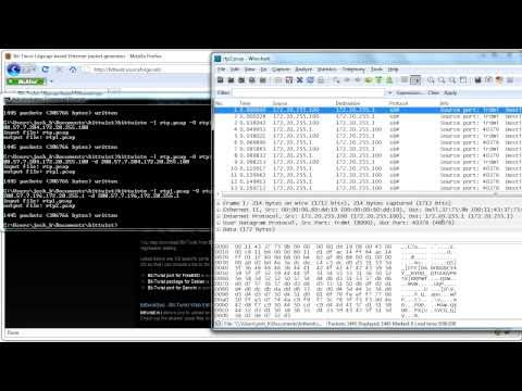 Bittwist - Network Traffic Generator - Tutorial 1