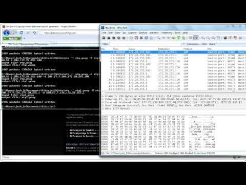 Bittwist - Network Traffic Generator - Tutorial 1
