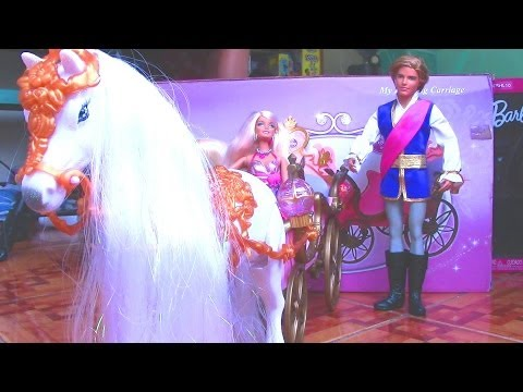 Disney Princess My Dazzling Carriage with Barbie and Ken Dolls