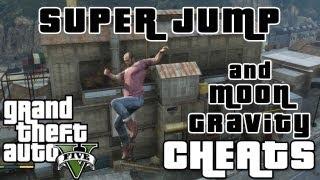 GTA 5 Cheats And Hacks Super Jump And Moon Gravity