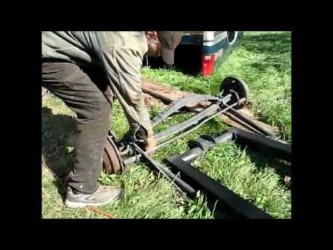 Tyler's home made rat rod roadster frame with axles
