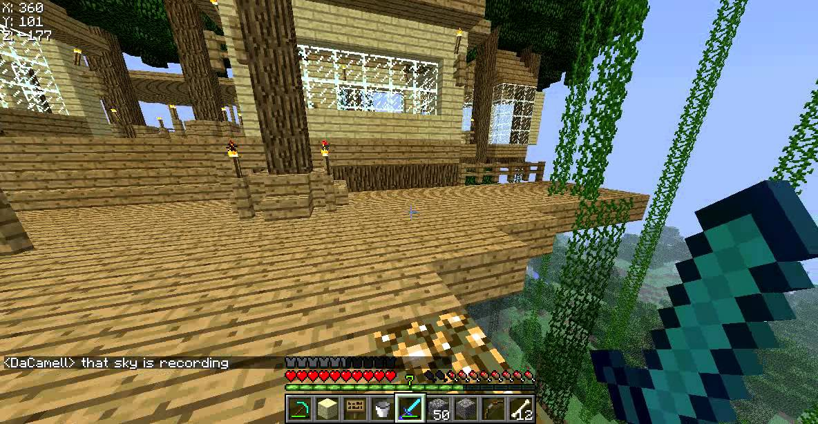 biggest minecraft tree house ever youtube
