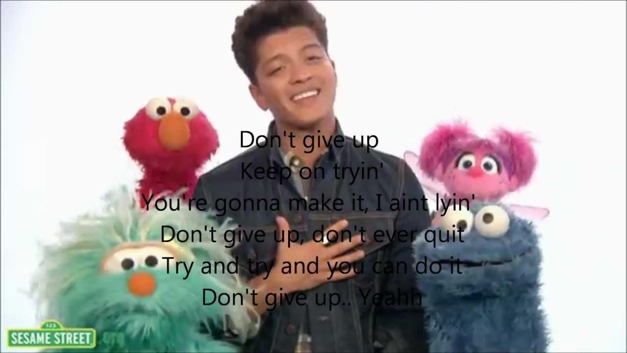 Bruno mars sesame street lyrics