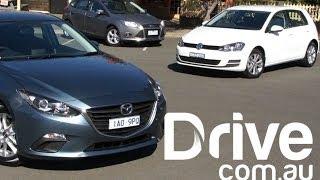 Mazda3 2014 V Ford Focus V Volkswagen Golf Comparison