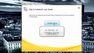 Descargar, Instalar Y Validar El Microsoft Office