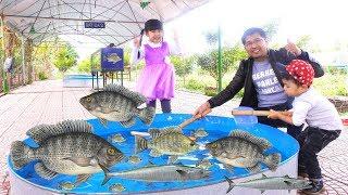 Trò Chơi Bắt Cá Cùng Bé Bún và Bé Bắp