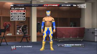 How To Make Sin Cara ( Mistico ) On WWE Smackdown VS Raw