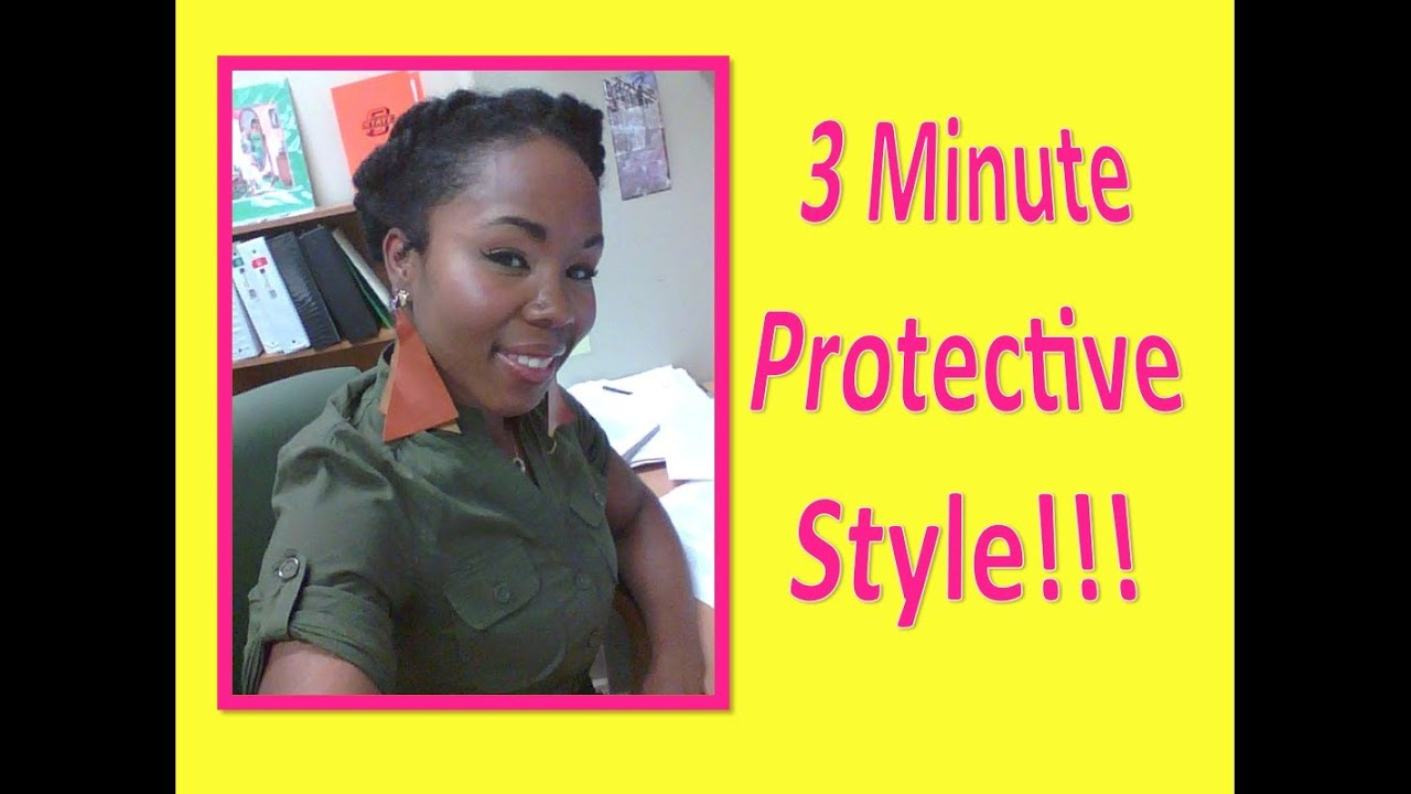 Natural & Transitioning Hair Protective Pin-Back Style (3-Minute