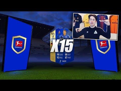15x BUNDESLIGA TOTS UPGRADE PACKS! (FIFA 18 Ultimate Team)
